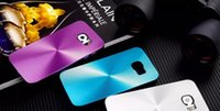 plastic cd covers - Luxury CD Hard Aluminum Case For Samsung Galaxy S6 G920 G9200 Metall Alloy Plastic Fashion Back Mobile Cell PHone Cover Skin