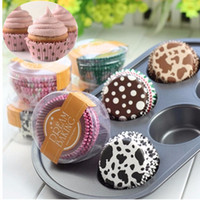 Wholesale 100PCS Bag Paper Cake Cup Liners Baking Cup Muffin Kitchen Cupcake Cases For Kids Party Color Send Randomly