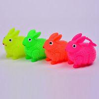Wholesale LED Flashing Light Up Silicone Rabbit Stress Ball Sensory Fidget Kids Toy Children s Day Birthday Party Gift