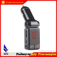 Wholesale 2A Handsfree Wireless Car charger Bluetooth Kit Car Charger Mp3 player U Disk FM Transmitter with USB port