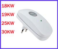 Wholesale US EU UK plug V V W KW KW KW KW Digital Intelligent Power Saving Box Electricity Energy Saver Box with EU Plug