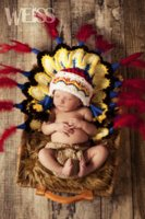 africa photography - D17 The new children s studio photography clothing Africa indigenous baby form in Indian feather headdress form fitting evening dresses