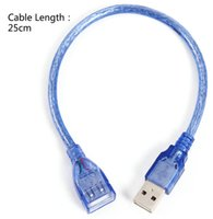 Wholesale Super Speed USB Type Male to Female Port Short Cables Extension Cable Wire NEW Blue