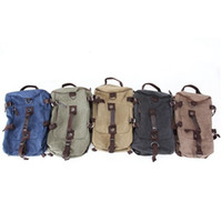 Wholesale Vintage Large Capacity Canvas Travel Bags Luggage Sport Bag Men Military Duffle Bags For Male Malas Para Viagem Blue