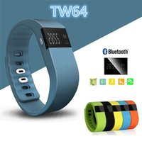 Wholesale TW64 Smart Bracelet Bluetooth Smart Wristbands smart watch Waterproof Passometer Sleep Tracker Function for android ios system retail