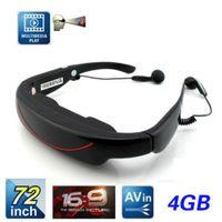 Wholesale 72 inch HD Virtual Video Glasses Eyewear Heads up Display SD Card Movie Player