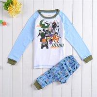 Cheap Children Star Wars dot Pajamas 2015 new Boy Cotton cartoon long Sleeve + Pants 2 Piece Suit baby clothes B001