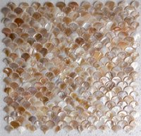 Wholesale mother of pearl tiles fan shaped shell mosaic for wall mosaic tiles Sector D bathroom wall tiles