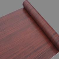 wood furniture kitchen - Self adhesive Wallpaper Meters Wood Grain Wall Stickers Waterproof Furniture Wooden Door Wardrobe Desktop Of Vinyl Wall Paper