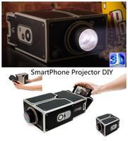 Wholesale Mini DIY Cardboard Smartphone Movie Projector Mobile Phone Projector Portable Cinema