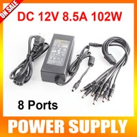 12V DC ac dc kit - AC V V To DC V A Switching Power Supply Adapter To Power Plug Pigtail With Ways For CCTV Security Camera DVR Kit