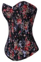 Wholesale Hot Sale Sexy Women corset steel boned Plus Size Bustier vintage corset women floral printing corset