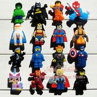 batman charms - 100Pcs Mix Lego Movie Hulk Batman Action Figure Cartoon PVC Shoe Charms Fit Ji bbitz Croc pvc Shoe Accessories decoration for kids shoe