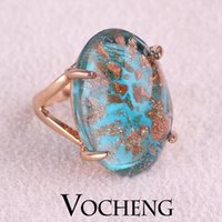 artificial gemstones - Rhinestone Rings vintage jewelry Artificial Gemstone K Rose Gold Plated with Colors VR Vocheng Jewelry