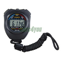 Wholesale hot sale New Sports Stopwatch Professional Handheld Digital LCD Sports Stopwatch Chronograph Counter Timer with Strap