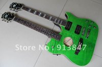 Cheap New Arrival guild Double neck acoustic Electric Guitar green! Free shipping 0528