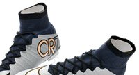 rubber boot - 2015 outdoor Soccer Shoes men Football Boots CR7 FG Soccer Cleats size EUR
