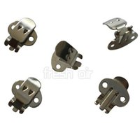 Wholesale 100PCS Blank Stainless Steel Flower Shoes Clips On Findings DIY Craft Buckles