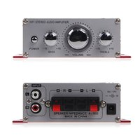 Wholesale Cheapest Handover Hi Fi V Mini Auto Car Amplifier Stereo Audio Amplifier Support CD DVD MP3 Input for Motorcycle Boat Home