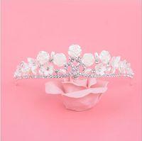 Cheap Unique Design Flower Crystal Wedding Crown 2016 Bling Bride Bridal Jewelry Veil Tiaras & Hair Accessories Headpiece Headband To Evening QM