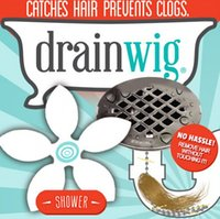 Wholesale DHL DrainWig Shower Drain Hair Catcher in a Blister Universal Hygienic Bathroom Kitchen Sink Bath
