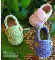 Wholesale HOT Cute flower leaves animal boys girls baby shoes cotton yarn handmade Crochet infant shoes
