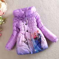 Wholesale 2015 winter children girl quilted jacket children s wear cotton long colors cotton padded jacket coat free shipp