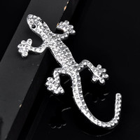 Wholesale 3D Gecko rhinestone Stickers Discount Promotion Car Accessories Make In China High Quality Top Selling