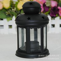 Wholesale Continental Iron Candlestick lantern factory direct new home Baishi pendant hollow stars paragraph