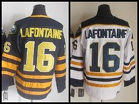 blue buffalo - 2015 PAT LAFONTAINE Jersey Buffalo Sabres Throwback Hockey Jerseys CCM Vintage Home Navy Blue White Authentic Jerseys C Patch