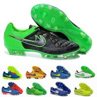 elastic band for shoes - 2015 Football Boot Tiempo Legend V FG America Football Shoes For Men Green Black White High Quality Football Shoes Soccer Cleats
