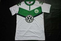 Wholesale AAA Thailand Quality Season Wolfsburg White Soccer Uniform Football Jerseys Embroidery Logo Customization Number Name