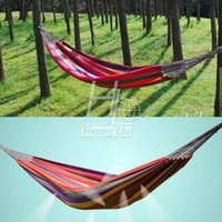 Cheap Portable Cotton Rope Swing Outdoor Fabric Camping Hanging hamaca Hammock Canvas Bed single double bearing