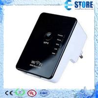 achat en gros de wifi booster de signal portable-2015 NOUVEAU Dual Band WLAN LAN Routeur 300Mbps 2.4GHz Signal Boosters Fonction WPS 300M WiFi WiFi Wi Fi Routeur Repeater Roteador