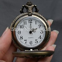 Cheap 2014 Christmas Gift Roman Vintage Bronze Steampunk Quartz Jewelry Chinese Zodiac Design Pendant Pocket Watch With Chain