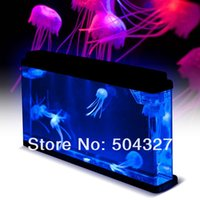 Wholesale EMS Pieces Giant Jellyfish Aquarium Jellyfish Tank with Color Changing LED Lights Jellyfish