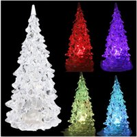 Wholesale LED Multi Color Changing Xmas Tree Clear Water Glittering Christmas Tree Lights DH04