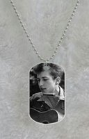 Wholesale Bob Dylan custom Pet Dog Tag pendant necklace Chain Metal Tags
