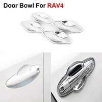 Wholesale New ABS Chrome Styling Car Door Bowl Cover Frame For Toyota RAV4 Auto Accessories High Quality