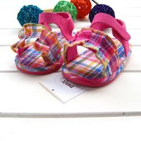 Wholesale 2016 summer baby girl s plaid sandals TPR sole soft sweety lovely kid s children s sandals colorful baby shoes