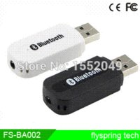 Wholesale 3 mm wireless PC A2DP mm Stereo Bluetooth Music Receiver Audio Dongle Adapter Flyspring FS BA002 adapter exhaust
