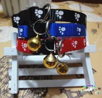 basic store - Pet supply stores white footprint small dog puppy collar blue black red dog collar pretty unique best dog collars SW006