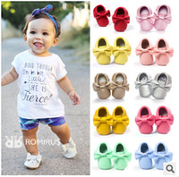 Wholesale Baby shoes size baby shoes first walker shoes M boys girls baby moccasins infant shoes baby soft leather baby moccasins newborn booties