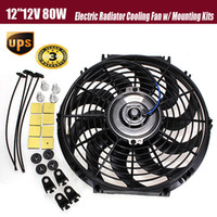 Wholesale New inch V W Slim Reversible Electric Radiator Cooling Fan Push Pull Easy Install order lt no track