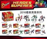 Wholesale 2016 NEW Bozhi super hero minifigures blocks assembled toys Christmas gifts for children