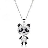 Bijoux de panda Prix-Mignon panda long collier cristaux Neoglory Bijoux points de vente Rihood Bijoux NC-146 liquidation vente cristaux