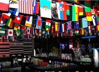 Wholesale 2018 World Cup national activities decoration string flag in different countries on international banner flag