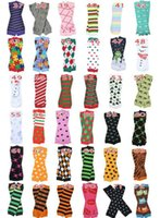 baby colorful - 12Pair Baby Christmas Leg Warmer kids Chevron Leg Warmers infant colorful leg warmer Baby socks Legging Tights Leg Warmers Styles