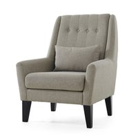 accent arm chair - Upholstery Furniture Legs Wood Finish Linen Cotton Fabric Sofa Armchair Design Living Room Modern Relax Accent Arm Chair Design