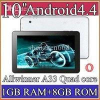 google android tablet - 30PCS Google inch Quad core GHz Allwinner A33 Android tablet pc Capacitive GB GB Dual Camera HDMI Bluetooth hot sell PB10A
